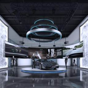 现代汽车展厅3D模型【ID:945730739】
