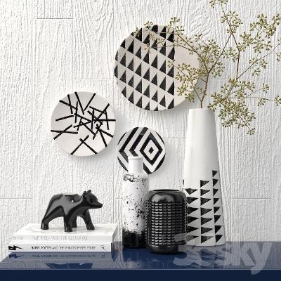 現代花瓶擺件國外3D模型【ID:230428514】