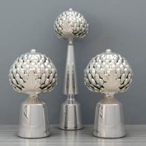 现代金属摆件装饰品工艺品陈设饰品组合3D模型【ID:232007586】