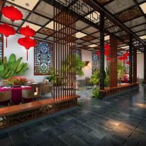 中式餐厅 3D模型【ID:642192210】