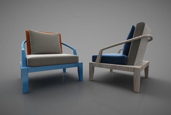 新中式风格椅子3D模型【ID:741983770】