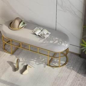 现代换鞋凳3D模型【ID:734468637】