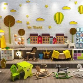 现代儿童玩具组合3D模型【ID:334749414】