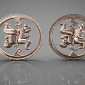 现代风格装饰品3D模型【ID:343368101】