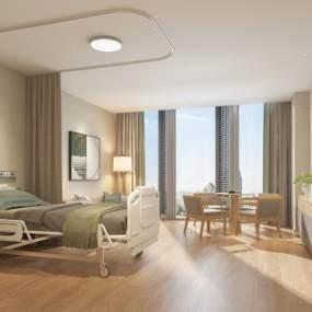 现代医院病房3D模型【ID:944686770】