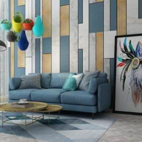 现代沙发3D模型【ID:633202612】