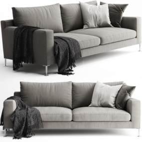 現代雙人沙發3D模型【ID:649023583】