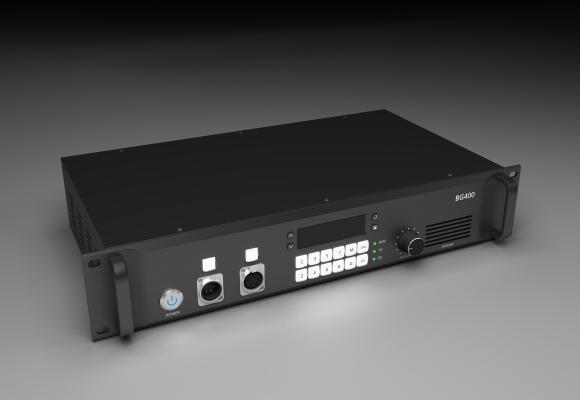 現代2U機箱影音設備3D模型【ID:445382062】
