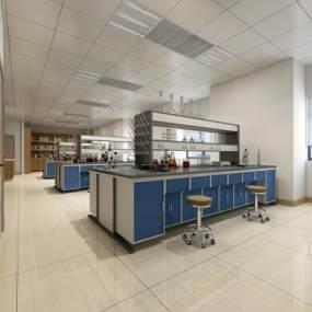 现代实验室3D模型【ID:943443661】