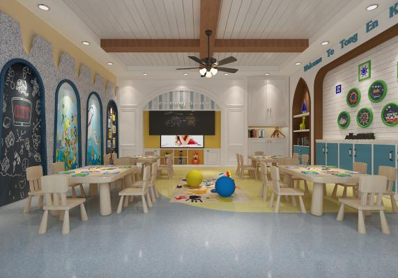 地中海幼儿园3D模型【ID:942339668】