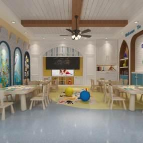 地中海幼儿园 3D模型【ID:942339668】