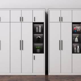 現代衣柜裝飾柜組合3D模型【ID:150241441】