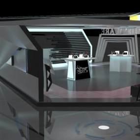 現代外星人電腦展廳3D模型【ID:946919790】