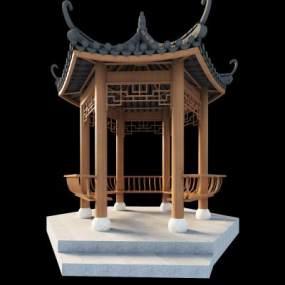 中国古建筑凉亭3D模型【ID:232195155】