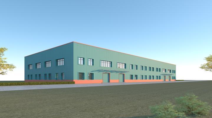 现代工业厂房 仓库 钢结构彩钢板生产车间