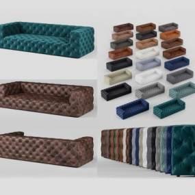 現代多色軟包沙發3D模型【ID:632108544】