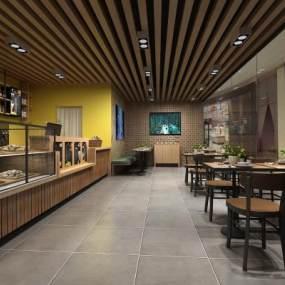 现代咖啡厅3D模型【ID:643144346】