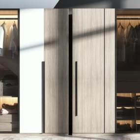 现代衣柜3D模型【ID:149246493】