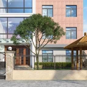 新中式庭院3D模型【ID:154039430】