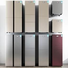现代冰箱组合 3D模型【ID:241507685】