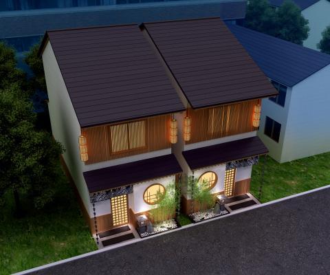 日式民宿3D模型【ID:145554741】