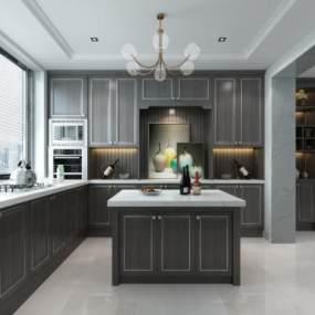 现代厨房3D模型【ID:532466385】