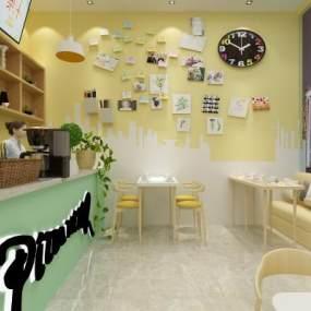 现代网红快餐店3D模型【ID:647353256】
