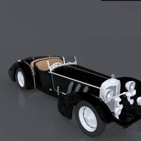 新古典奔驰SS20世纪老爷车3D模型【ID:432694795】