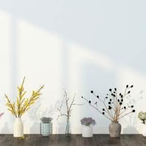 北欧花瓶组合3D模型【ID:234912568】