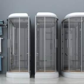 现代淋浴房3D模型【ID:631499437】
