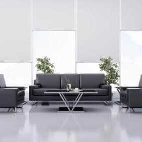 现代简约办公沙发3D模型【ID:644512774】