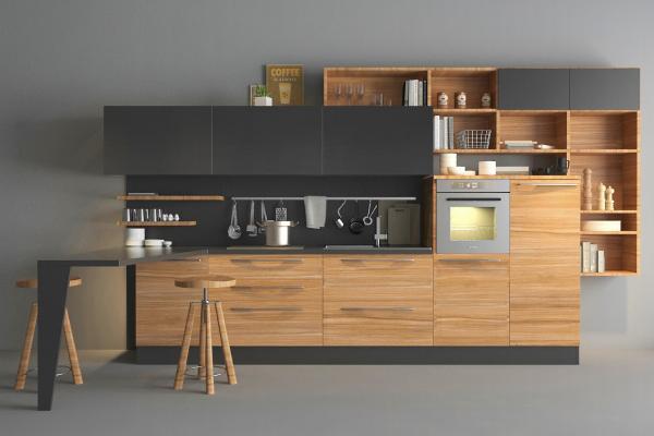 现代厨房3D模型【ID:541497389】
