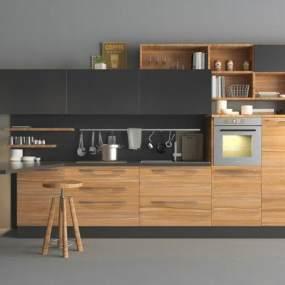 现代厨房 3D模型【ID:541497389】