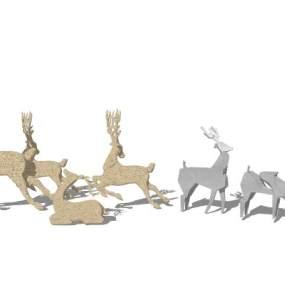 北欧风格小鹿艺术雕塑 马雕塑 牛雕塑【ID:653302641】
