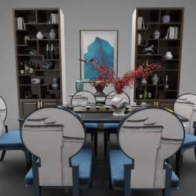 新中式家具组合3D模型【ID:843384892】