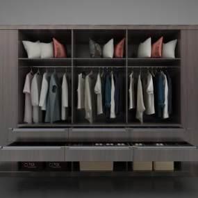 現代風格衣柜3D模型【ID:152549431】