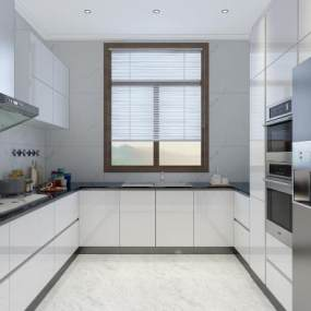 現代廚房3D模型【ID:552604365】