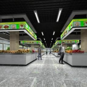 現代菜市場3D模型【ID:143832184】