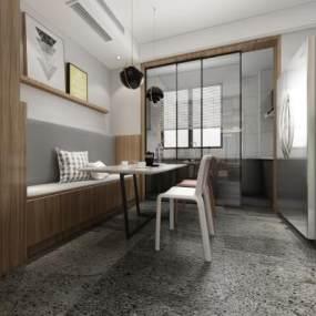 现代简约餐厅3D模型【ID:544312168】