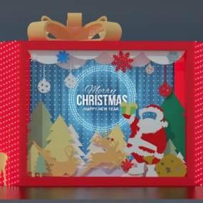 圣诞节布景 3D模型【ID:240583525】