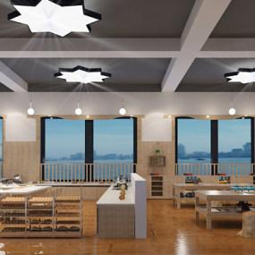 现代儿童厨房创客区3D模型【ID:946656612】