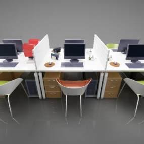 现代风格办公桌3D模型【ID:947385188】