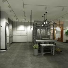 现代风格服装店3D模型【ID:149021054】