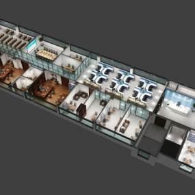 现代办公室3D模型【ID:946535054】
