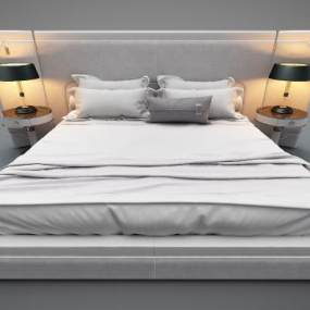 現代風格床具3D模型【ID:848860768】