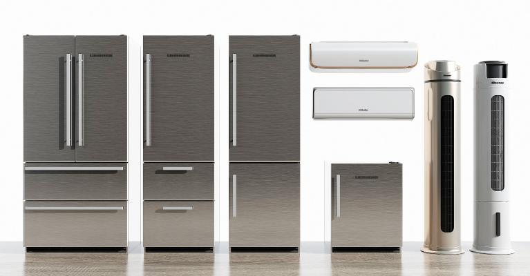 现代冰箱空调组合