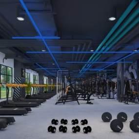 现代健身房模型 3D模型【ID:141483287】