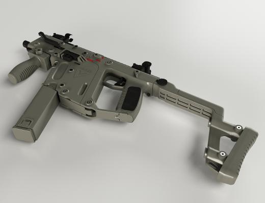 沖鋒槍3D模型【ID:441362216】