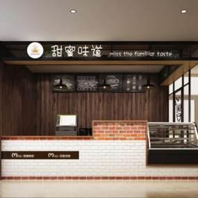 工业风甜品店3D模型【ID:644669429】