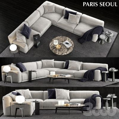 沙发Poliform国外3D模型【ID:633543719】